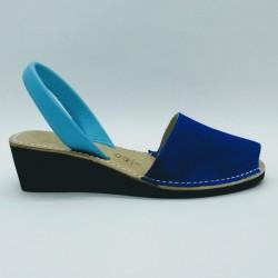 Anabela Nobuck Azul Bicolor 37 2