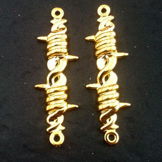 Arame Farpado Dourado  ABS -