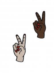 Patch Mão Paz e Amor 3