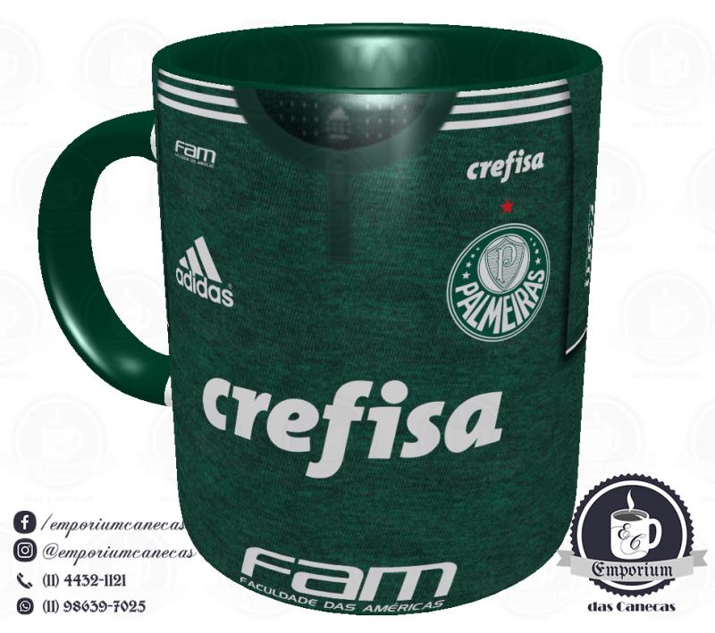 Caneca Palmeiras - Camisa 2018 Home - Porcelana 325ml