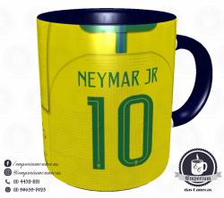 Caneca Seleção Brasileira - Camisa 2018 Home - Porcelana 325 ml 3