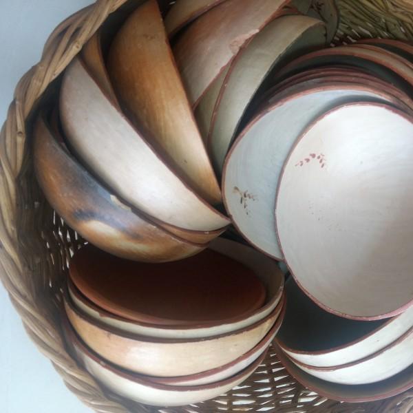 Pratos de argila