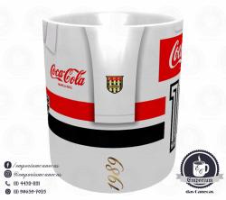 Caneca São Paulo FC - Camisa 1989 Branca - Porcelana 325 ml 2