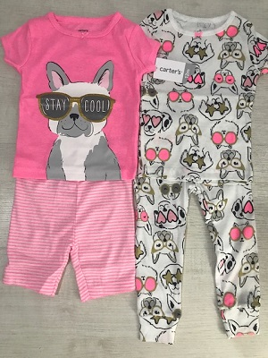 e3f5b1ab2 Conjunto 2 Pijamas Carters Stay Cool Cachorrinho - 12 à 18 Meses