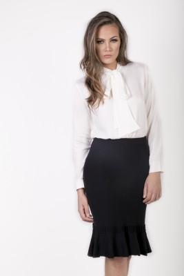 Camisa branca GOLA LAÇO - CREPE