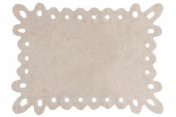 Tapete retangular vazado na cor bege, modelo C-00008 1