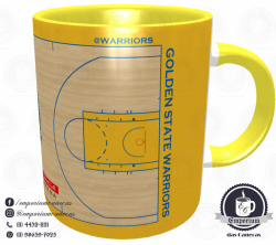 Caneca Golden State Warriors - Oracle Arena - Porcelana 325 ml 3