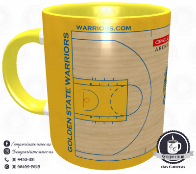 Caneca Golden State Warriors - Oracle Arena - Porcelana 325 ml
