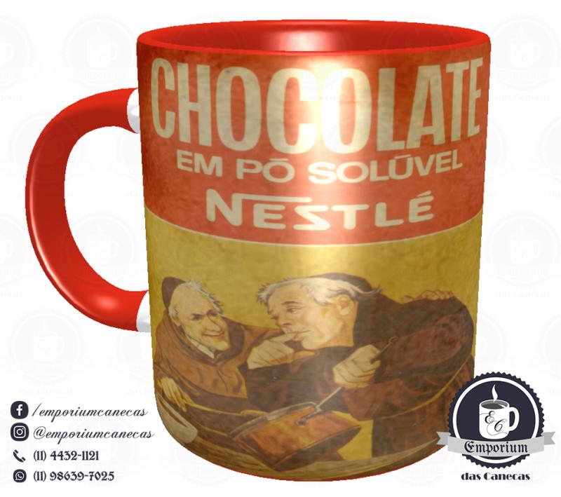 Caneca Vintage - Marcas Inesquecíveis - Chocolate em Pó Nestlé - Porcelana 325 ml