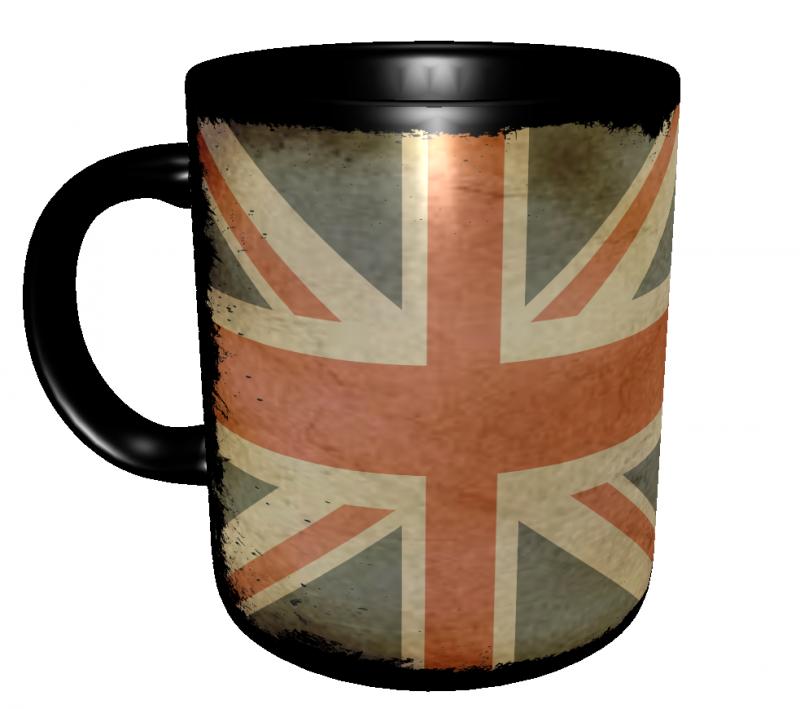 Caneca Reino Unido - Grunge