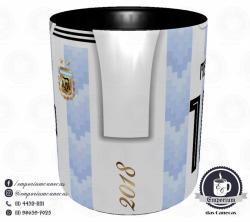 Caneca Argentina - Camisa Copa do Mundo 2018 - Porcelana 325 ml 2