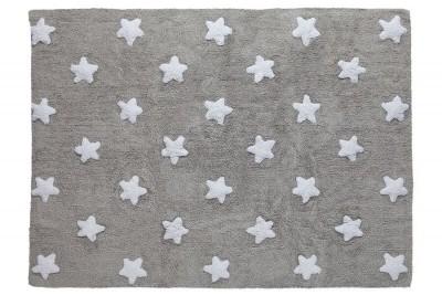 Tapete cinza com estrelas brancas modelo C-G-SW