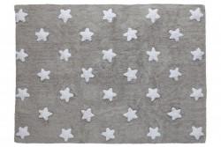 Tapete cinza com estrelas brancas modelo C-G-SW 1