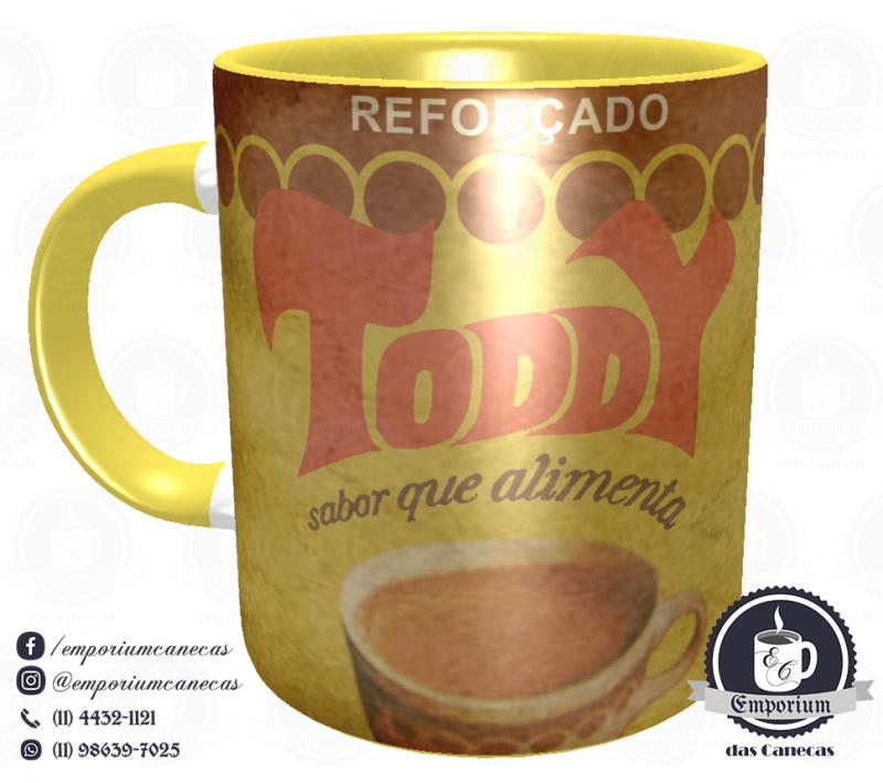 Caneca Vintage - Marcas Inesquecíveis - Toddy - Porcelana 325 ml