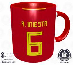 Caneca Espanha - Camisa Copa do Mundo 2018 - Porcelana 325 ml 3