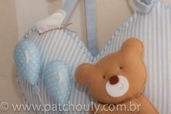 Enfeite de porta Urso Azul com Balão 2