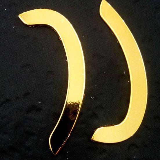 Biqueira Dourada Top/Flat ABS 007