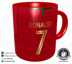 Caneca Portugal - Camisa Copa do Mundo 2018 - Porcelana 325 ml 3