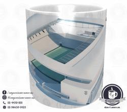 Caneca Arena Corinthians - Branca - Porcelana 325ml 2