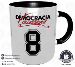 Caneca Corinthians - Camisa 1983 Sócrates - Democracia Corinthiana - Porcelana 325 ml 3