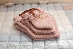 Kit Cestinho de Crochet Rosa Bebê 2