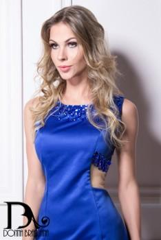 Vestido Pedrarias AZUL ROYAL 3