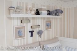 Quarto de Selva - Quadro de Elefante de crochet 1