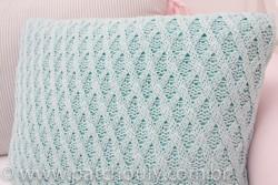 Almofada Retangular de Tricot Tiffany Claro 3