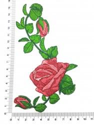 Patch Rosa Com Botões 2