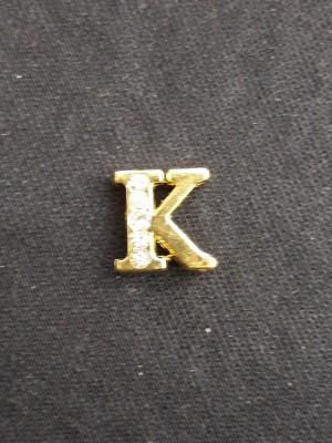 Letra K Dourada
