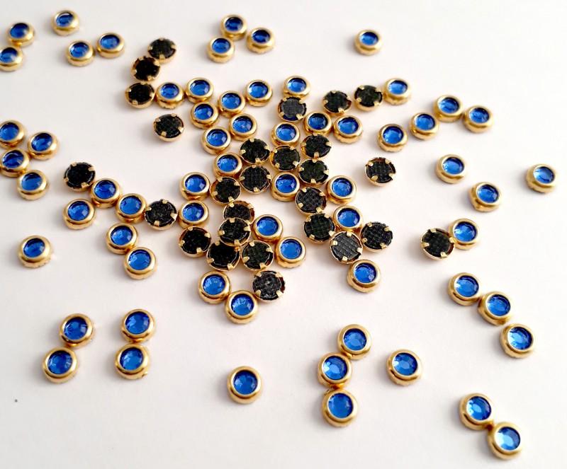 Olho de Gato Azul 3mm - 30 unid