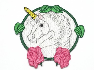 Patch Unicórnio com Flores