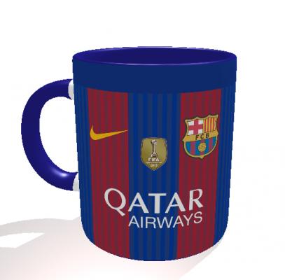 Caneca FC Barcelona - Camisa 2016/2017 - Porcelana 325 ml