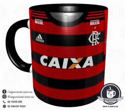 Caneca Flamengo - Camisa 2018 Home - Porcelana 325 ml
