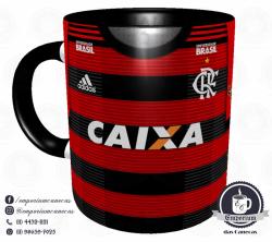 Caneca Flamengo - Camisa 2018 Home - Porcelana 325 ml 1