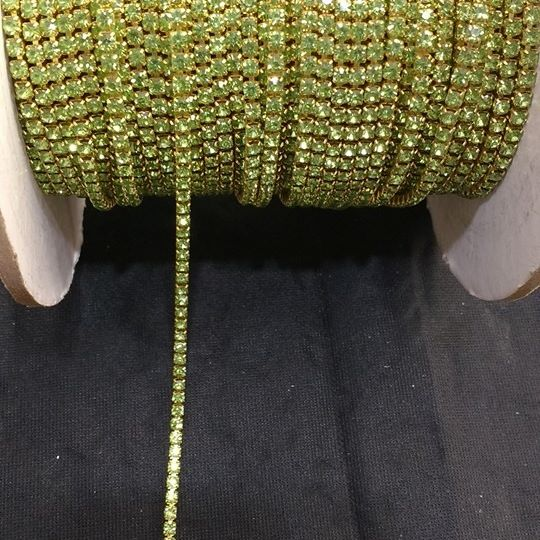 Strass Verde Limão 12 - S. M 341