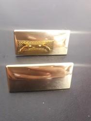Plaquinha de Metal Dourada  Modelo 5 1