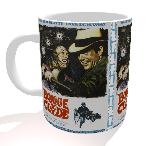 Caneca Clássicos do Cinema - Bonnie & Clyde - Porcelana 325 ml