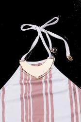 Body/Maiô comportado nude com branco 3