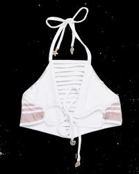 Biquini top soutien listrado nude e branco 2