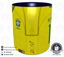 Caneca Seleção Brasileira - Camisa 2018 Home - Porcelana 325 ml 2