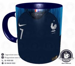 Caneca França - Camisa Copa do Mundo 2018 - Porcelana 325 ml 1