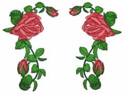 Kit 2 Patchs Espelhados De Rosas 5