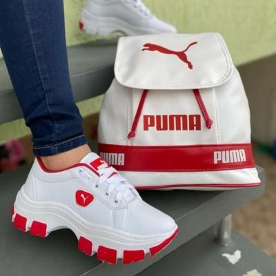 kit bolsa e tenis branco