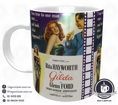 Caneca Clássicos do Cinema - Gilda - Porcelana 325 ml