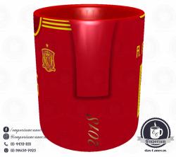 Caneca Espanha - Camisa Copa do Mundo 2018 - Porcelana 325 ml 2