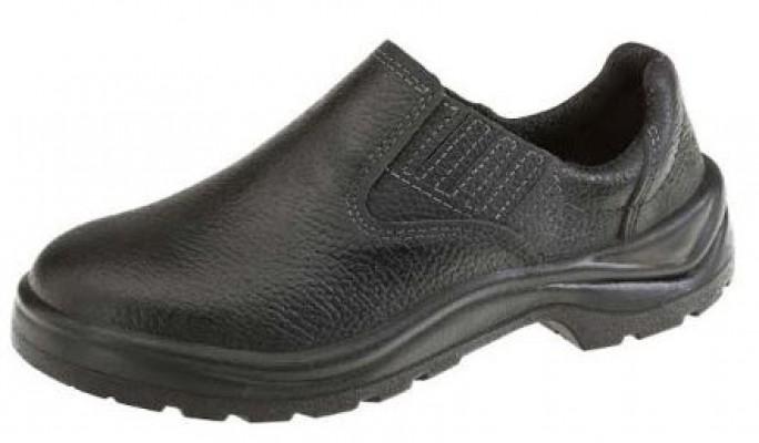 Sapato em Couro de Segurança com ELÁSTICO