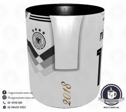 Caneca Alemanha - Camisa Copa do Mundo 2018 - Porcelana 325 ml 2