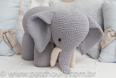 Quarto de Selva - Elefante de crochet P