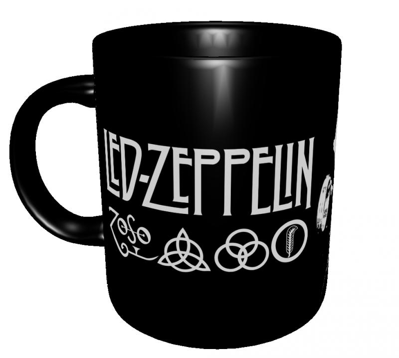 Caneca Bandas Clássicas - Led Zeppelin - Porcelana 325 ml